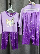 Girl Pajama 2 piece purple sleep set size 4/5 purple BRATZ polyester