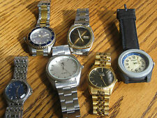 Lot of Men's Watches for Parts, Repair or Repurpose