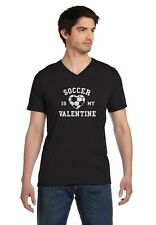 Soccer Is My Valentine - Valentine's Day Gift for Soccer Fans V-Neck T-Shirt