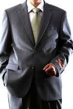 MENS SINGLE BREASTED 2 BUTTON WOOL RICH GRAY DRESS SUIT, 40612N-40606-GRE