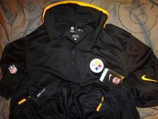 NIKE PITTSBURG STEELERS NFL FOOTBALL ON FIELD POLO SHIRT 2XL L NWT $95.00