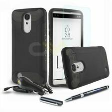 QUANTUM ARMOR SHOCKPROOF HYBRID HARD COVER PHONE CASE FOR LG ARISTO +BUNDLE