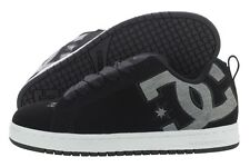 DC Court Graffik SE 300927-BKZ Black Nubuck Leather Skate Shoes Medium D, M Men