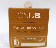 CND Creative Nail Design Tips Performance WHITE Refill Variations ~ 50ct/pack~