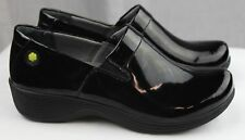Dansko Work Wonders Coral Black Patent Leather Doctor Nurses Shoes Clogs