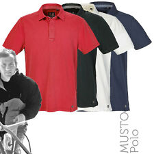 Musto MP0643 Mens Canvas Collar Garment Washed Cotton Pique Polo Shirt (4 Cols)