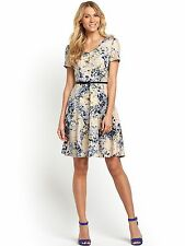 SOUTH Plus Sucba Print Flare Belted Dress Sizes 20, 22,