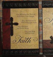 Scriptural Reference, Metal Signs, Home Decor, Serve the Lord, Faith Hope & Love