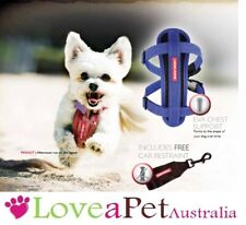 EzyDog Chest Plate Harness for  dogs - select size and colour.FREE CAR RESTRAINT