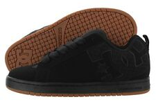 DC Court Graffik S 300927-BL0 Black Nubuck Mesh Skate Shoes Medium (D, M) Mens