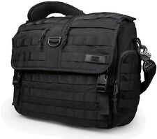 Mission Critical Mens Dads Military Tactical Black Messenger Laptop Diaper Bag