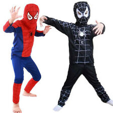 Childrens Fancy Dress Costume Spiderman Black Venom Kids Boys Girls Halloween UK