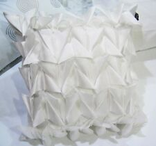 Polyester Fish Scale Pleated Cushion Cover : Pink, Ivory, Blue, White, Black