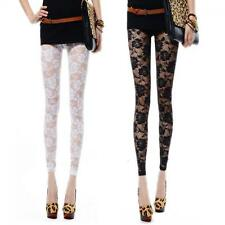 Footless Sexy Pants Leggings Rose Hollow Lace
