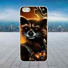 COOL RACCOON GUARDIANS GALAXY White Hard Phone Case Cover Fits Iphone Models