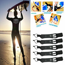 6' - 10' Surfboard Leash Leg Rope 7mm Legrope Double Stainless Steel Swivels ""