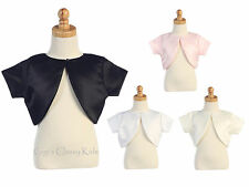 New Girls Satin Bolero First Communion Easter Wedding Graduation Party