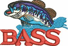 Fishing - Bass Embroidered & Personalised Polo Shirt