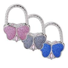 Butterfly Folding Bag Handbag Purse Rhinestone Hook Hanger Holder