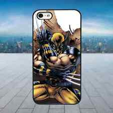 WOLVERINE X-MEN SUPERHERO Black Rubber Phone Case Cover Fits Iphone Models