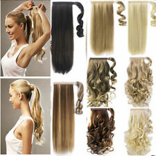 One Piece Wrap Around Ponytail Clip In Hair Extensions Pony Tail Fake Hair AP1