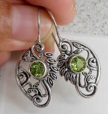 Gemstone Solid Silver, 925 Bali Handcrafted Earring 23359