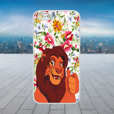 Grown Simba Lion Lion King White Hard Phone Case Cover Fits Iphone Models