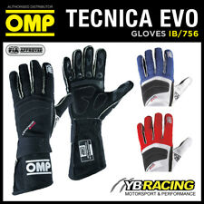 IB/756 OMP TECNICA EVO PROFESSIONAL RACING RALLY GLOVES FIA 8856-2000 FIREPROOF