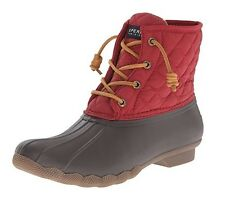 Sperry Top-Sider Women's Saltwater Quilted Nylon Rainboots Brown/Red
