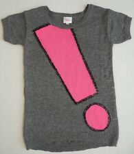 NEW Justice Girls Sweater Tunic dress shirt silver grey pink size 5 NWT