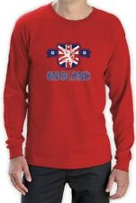 ENGLAND Flag Crest Long Sleeve T-Shirt UK National Team Football World Cup 2015