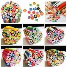 50pcs  Cute Stick DIY Polymer Clay Mixed Styles  Nail Art Stickers Fimo Canes