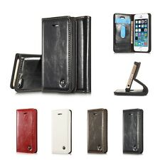 Luxury Magnetic Leather Stand Flip Cover Case Wallet Case for iPhone 5 6S 7 New
