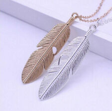 Women Jewelry Sweater Necklace Feather Statement Long Vintage Pendant New Chain