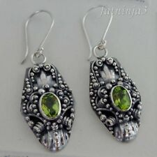 Gemstone Solid Silver, 925 Bali Handcrafted Dragon Earring 34943