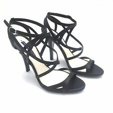 NWT $650 Ralph Lauren Purple Label Collection Black Calf Leather Heels AUTHENTIC
