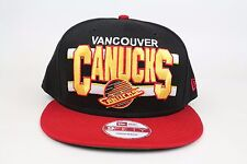 Vancouver Canucks Word Stripe Black Red Yellow NHL New Era 9Fifty Snapback Hat
