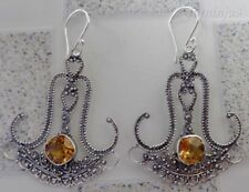 Gemstone Solid Silver, 925 Balinese Traditional Earring 29104