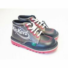 Boys Navy Blue Kickers Boots - Kick Hi Space Navy Space Themed Boot RRP £50
