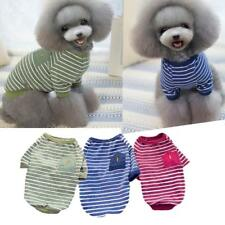 Cotton Pet Clothes Classic Striped Sweater Cat Puppy Dog T-Shirt Cool Apparel