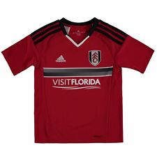 adidas Childrens Kids Football Soccer Fulham Away Shirt Jersey Top 2016-17 - Red