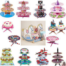 Vintage Style Childrens Cup Cake Stands Tea Party Accessories Tableware Theme