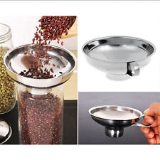 Stainless Steel Wide Mouth Canning Funnel Cup Hopper Filter Kitchen Tools