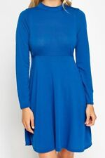 BN LABEL BE BY SIMPLY BE HIGH NECK A-LINE BLUE DRESS SIZE 22 24 26 PLUS SIZE ♡♡♡