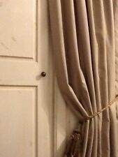 LAURA ASHLEY DOOR CURTAIN IN HOLDEN NATURAL- THERMAL INTERLINED -NEW 90