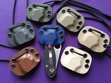 Kydex Neck Sheath for Spyderco C223GP Paramilitary 3 - Choose From 11