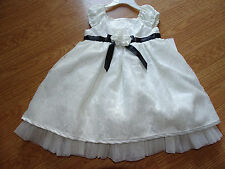 Sweet Heart Rose Girls Ivory Dress/Black Size 18 and 24 Months Easter NWT