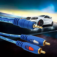 1.5/3/5M 3.5MM Male To 2RCA Male Stereo Audio Cable One To Two AUX Audio Cable F