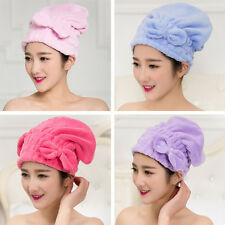 Multi-color Bath Shower Hair Towels Drying Wrap Quick Dry Cap Bow