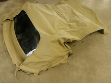 Chrysler Sebring convertible top in tan color  fits 99-00  with back glass